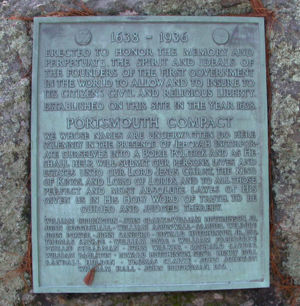 Portsmouth Compact Memorial Plaque