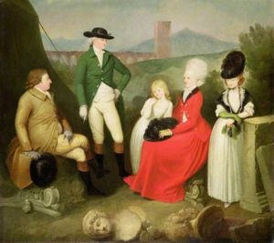 Aubrey Beauclerk, later 5th Duke of St. Albans with his wife and children: Aubrey (1765-1815), Catherine (1768-1803) and Caroline (1775-1838).