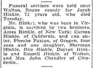 Jacob Hinkle obituary