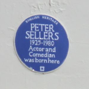 Blue Plaque on Peter Sellers Birthplace