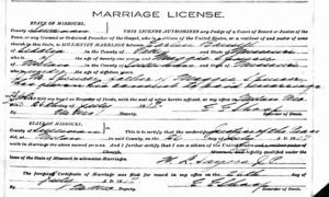 Marriage Record for Earlen Ray Bausell & Marjorie Belle Spencer