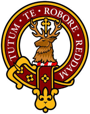 The crest badge of Clan Crawford