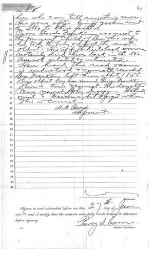 Deposition of Martha Burge Page 2