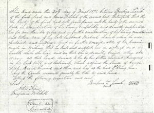 Land Deed of Barbara (Simmons) Lamb