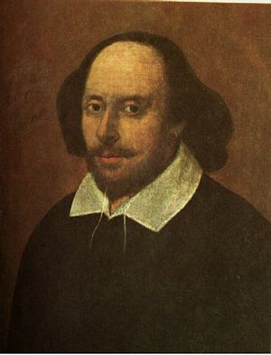 The Chandos Portrait: thought to be William Shakespeare