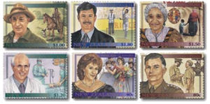 Famous New Zealanders - Postage stamps