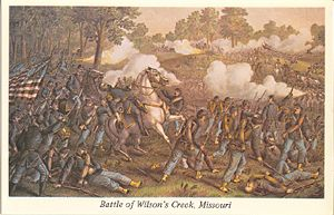 Battle of Wilson's Creek Postcard