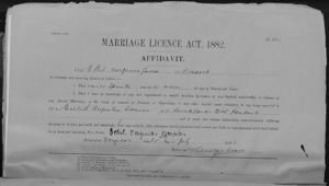 Marriage Certificate for Michael A Turner and Ethel V Garcia