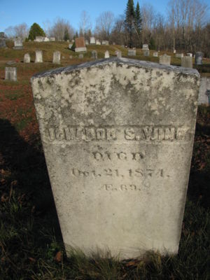 Ichabod Swift Wing headstone