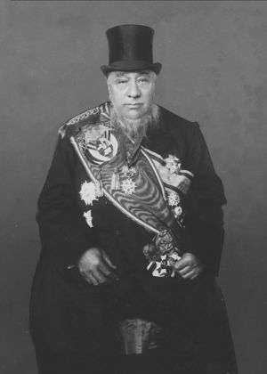 State President Paul Kruger of the South African Republic at his fourth inaguration in 1898