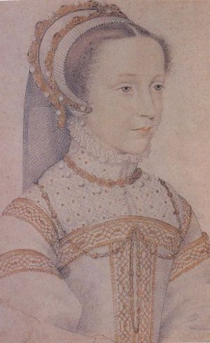 Mary, Queen of Scots, in a Sketch by Francois Clouet.