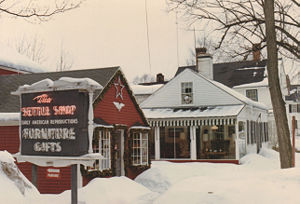 The Settle Shop Gift Shop And Annex In Winter