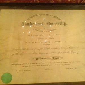 E.L. Brien's Law Degree