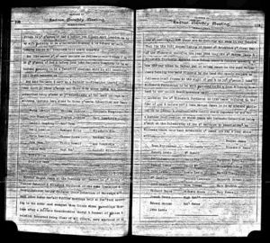 Morgan James & Elizabeth Prytherch Marriage Record