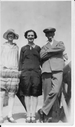 Sidney Curtis Brown with Rose and Lily