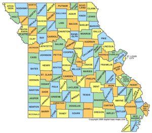 Missouri Resource Page US Civil War War Between The States - Us civil war states map