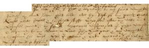 Shakespeare's will in which he mentions his Daughters, Judith Quiney and  Susanna Hall
