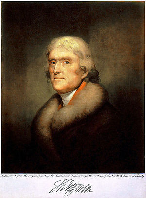 Thomas Jefferson Portrait Reproduction