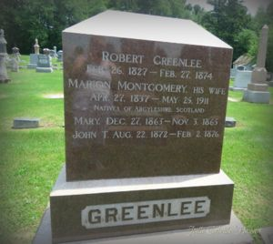 Monument for Robert Greenlees Family