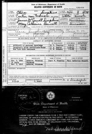 Clara Maude (Simpkins) Melton (1898-1984)   WikiTree FREE Family Tree
