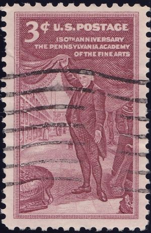 The Pennsylvania Academy of the FIne Arts 3 Cents US Postage