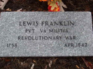 Lewis Franklin headstone