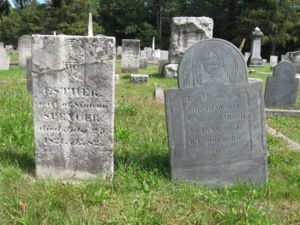 Simeon Spencer, Esther Gould Headstones