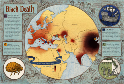 Map of black death map of black death 500px worldwidedisastersblackplagueg gumiabroncs Images
