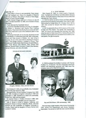 Thomas Freeman Davis information from AVOCA IOWA 125 years pg 33