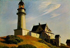 The Lighthouse at Two Lights by Hopper