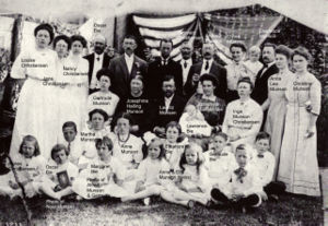 Monsen Family Celebration 1909