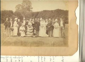 Wedding of Charles Edward Pine-Coffin to Lillian Olivia Cole, at Stoke Lyne house, Devon.