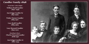 Asa Griggs Candler Sr and Lucy Howard Candler and family