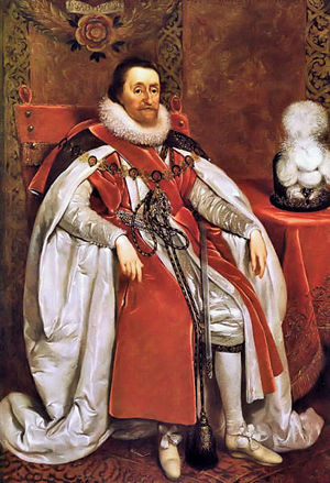 James I in Royal Robes by Daniel Mytens.