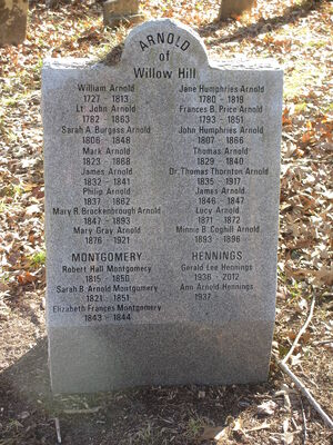 ARNOLDs of WILLOW HILL (Cemetery)