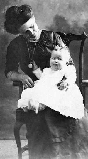 Myrtle Mae with Daughter Ivell Blue
