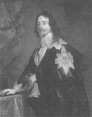 Charles I with ceremonial insignia (Anthony VanDyck).