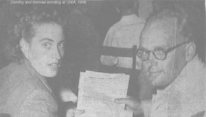 Dorothy and Norman Dufty enrolling at the University of Western Australia in 1956
