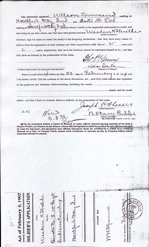 Weeden Shields Civil War Pension File Image 4
