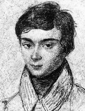 A portrait of Évariste Galois aged about 15