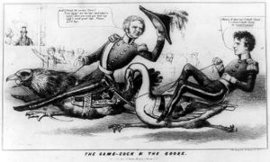 Winfield Scott vs. Franklin Pierce race for the presidency in 1852