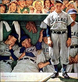 Chicago Dugout by Norman Rockwell