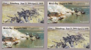 Petersburg Campaign and Battle of Mobile Bay - US Postage Stamps - 2014