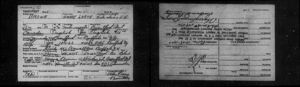 1929 Immigration Card - Harry and Viola Brown