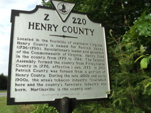 Henry County Historical Marker