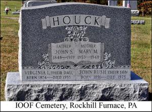 John Houck Image 5 Grave stone of John Samuel and Mary Malissa Houck & John Samuel Houck (1849-1919) | WikiTree FREE Family Tree memphite.com