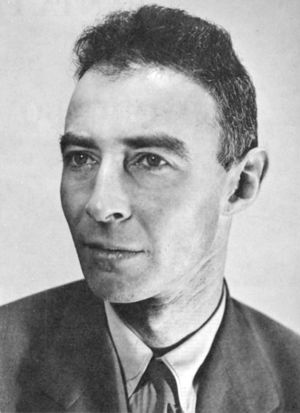 Official portrait of J. Robert Oppenheimer, first director of Los Alamos National Laboratory.