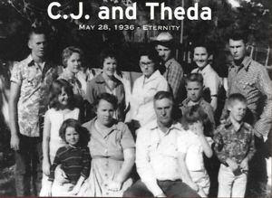 Carroll Junius Sherwood with Theda (Willis) Sherwood and their family