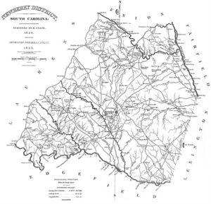 Map of Newberry District - 1820