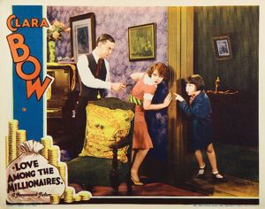 Charles Sellon with Clara Bow and Mitzi Green in